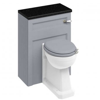 Burlington 60 Regal Comfort Height Back to Wall Toilet with WC Unit and Cistern - Classic Grey