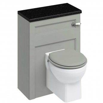 Burlington 60 Wall Hung Toilet with WC Unit and Cistern Dark Olive - Excluding Seat