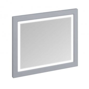 Burlington 90 Fitted Framed LED Bathroom Mirror 750mm High x 900mm Wide - Classic Grey