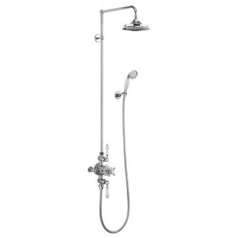Burlington Avon Triple Exposed Mixer Shower with Shower Kit + 12\ Fixed Head