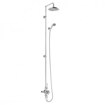 Burlington Avon Extended Triple Exposed Mixer Shower with Shower Kit + 9\ Fixed Head