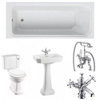 Burlington Complete Bathroom Suite, 1700mm x 700mm Rectangular Bath