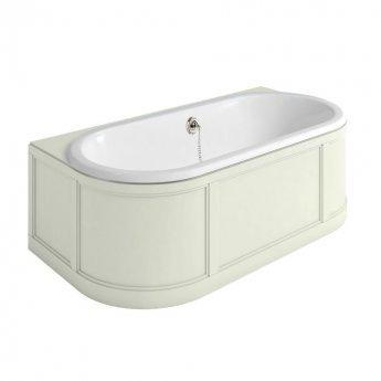 Burlington Complete Bathroom Suite, 1800mm x 950mm Back to Wall Bath, Sand