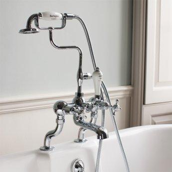 Burlington Claremont Bath Shower Mixer Tap, Pillar Mounted, Chrome