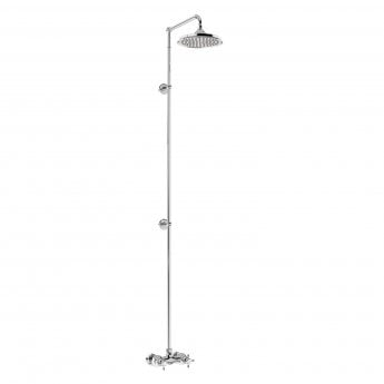 Burlington Eden Extended Dual Exposed Shower with 12\ Fixed Head