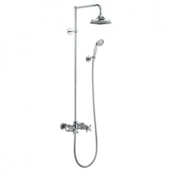 Burlington Eden Dual Exposed Shower Kit, 9inch Fixed Head