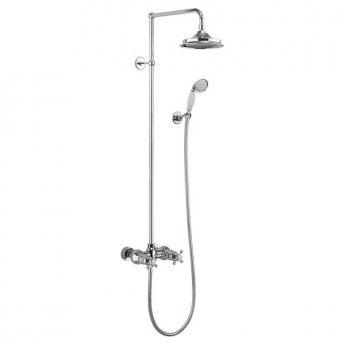 Burlington Eden Dual Exposed Shower Kit, 12inch Fixed Head