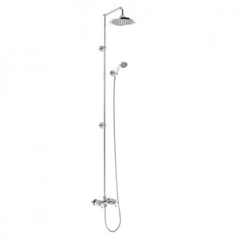Burlington Eden Extended Dual Exposed Shower with Shower Kit + 9\ Fixed Head