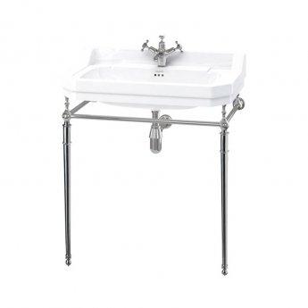 Burlington Edwardian Basin with Regal Chrome Wash Stand, 800mm Wide, 1 Tap Hole