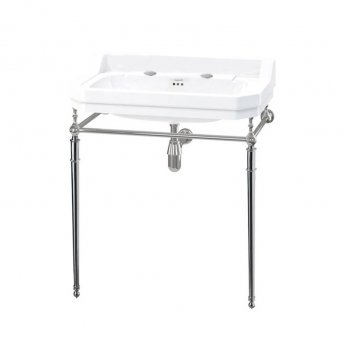 Burlington Edwardian Basin with Regal Chrome Wash Stand, 800mm Wide, 2 Tap Hole