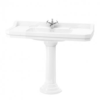 Burlington Edwardian Basin with Full Regal Pedestal 1200mm Wide - 1 Tap Hole