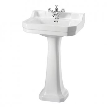 Burlington Edwardian Basin with Regal Full Pedestal, 560mm Wide, 1 Tap Hole