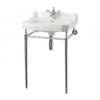 Burlington Edwardian Basin with Regal Chrome Wash Stand, 560mm Wide, 1 Tap Hole
