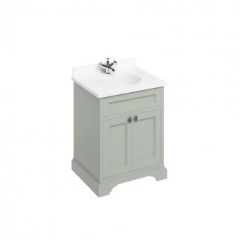 Burlington Furniture Bathroom Suite 670mm Wide Vanity Unit Olive - 0 Tap Hole