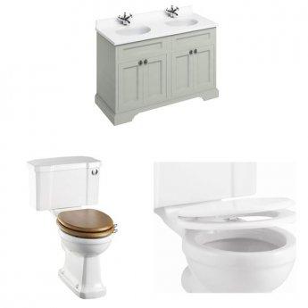 Burlington Furniture Bathroom Suite 1300mm Wide Vanity Unit Olive - 0 Tap Hole
