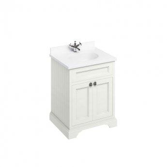 Burlington Furniture Bathroom Suite 670mm Wide Vanity Unit Sand - 0 Tap Hole