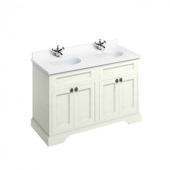 Burlington Furniture Bathroom Suite 1300mm Wide Vanity Unit Sand - 0 Tap Hole