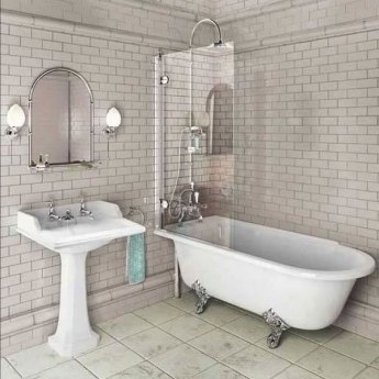Burlington Hampton LH Freestanding Shower Bath 1500mm x 750mm - Excluding Feet