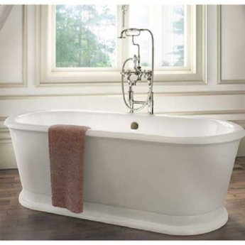 Burlington London Oval Freestanding Roll Top Bath 1800mm x 850mm - Including Surround