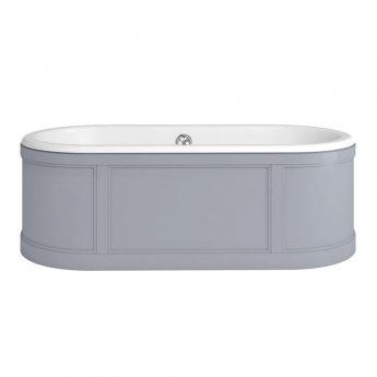 Burlington London Curved Surround Acrylic Bath 1800mm x 850mm - Grey