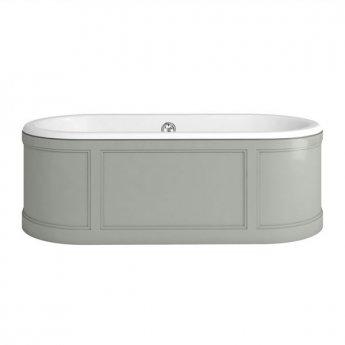 Burlington London Curved Surround Acrylic Bath 1800mm x 850mm - Olive