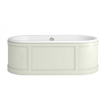 Burlington London Curved Surround Acrylic Bath 1800mm x 850mm - Sand