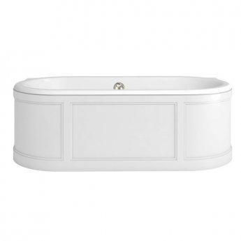 Burlington London Curved Surround Acrylic Bath 1800mm x 850mm - Matt White