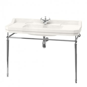 Burlington Medici 1 TH Basin with Wash Stand 1200mm Wide - Ivory