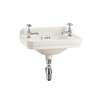 Burlington Medici Cloakroom 2 TH Basin 510mm Wide - Ivory
