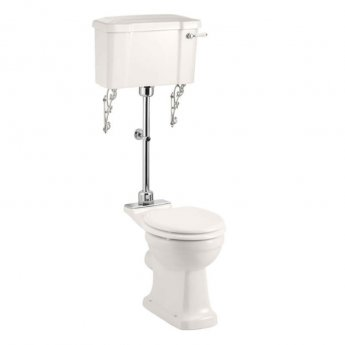 Burlington Medici Medium Level Toilet with Lever Cistern - Soft Close Seat
