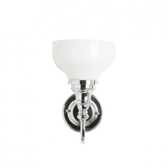 Burlington Ornate Bathroom Light, 275mm High x 170mm Wide, Chrome/Frosted Glass