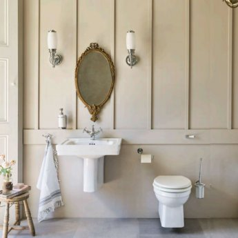Burlington Ornate Bathroom Light, 360mm High x 120mm Wide, Chrome/Frosted Glass