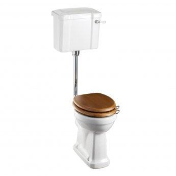 Burlington Regal Low Level Toilet Slimline Lever Cistern - Excluding Seat