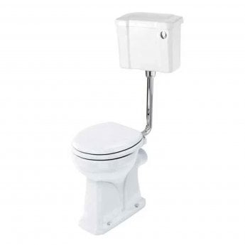 Burlington Regal Low Level Toilet Slimline Push Button Cistern - Excluding Seat