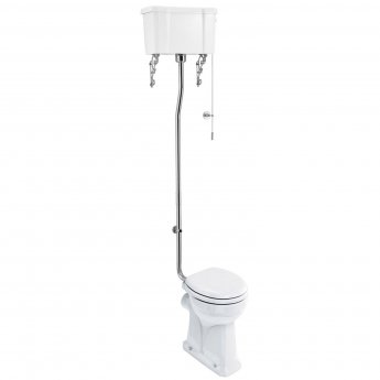 Burlington Regal High Level Toilet White Ceramic Cistern - Excluding Seat