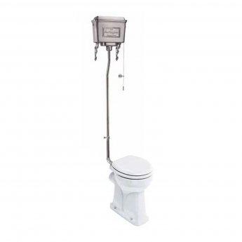 Burlington Regal High Level Toilet Polished Aluminium Cistern - Excluding Seat
