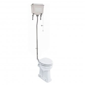 Burlington Regal High Level Toilet White Aluminium Cistern - Excluding Seat