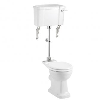 Burlington Rimless Low Level Toilet Lever Cistern - Excluding Seat