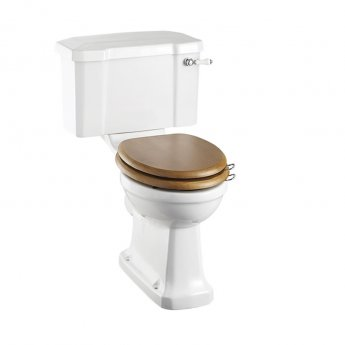 Burlington Rimless Close Coupled Toilet Lever Cistern - Excluding Seat