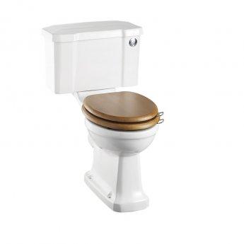 Burlington Rimless Close Coupled Toilet Push Button Cistern - Excluding Seat