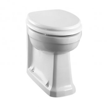 Burlington Rimless Back to Wall Toilet 475mm Projection with Soft Close Seat - White
