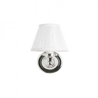 Burlington Round Bathroom Light, 225mm High x 150mm Wide, Chrome/White Shade