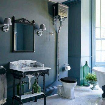 Burlington Round Bathroom Light, 225mm High x 156mm Wide, Chrome/Silver Shade