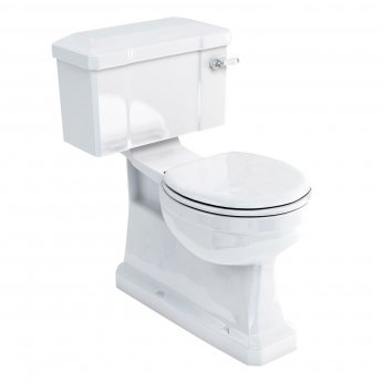 Burlington S-Trap Close Coupled Toilet Lever Cistern with Vertical Outlet - Excluding Seat