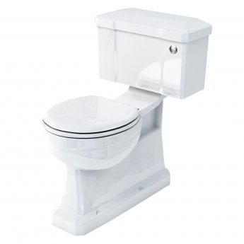Burlington S-Trap Close Coupled Toilet Push Button Cistern with Vertical Outlet - Excluding Seat
