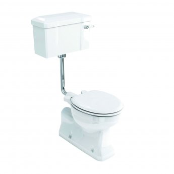 Burlington S-Trap Low Level Toilet Lever Cistern - Excluding Seat