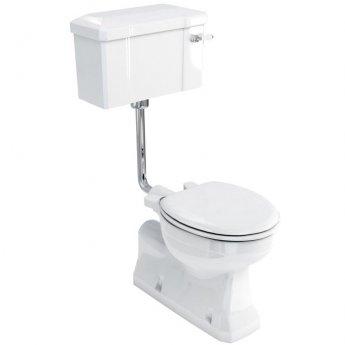 Burlington S-Trap Low Level Toilet Slimline Lever Cistern - Excluding Seat