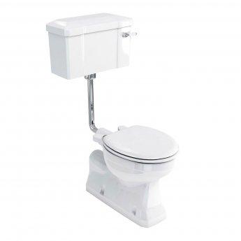 Burlington S-Trap Low Level Toilet Ceramic Lever Cistern - Excluding Seat