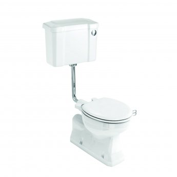Burlington S-Trap Low Level Toilet Slimline Push Button Cistern - Excluding Seat