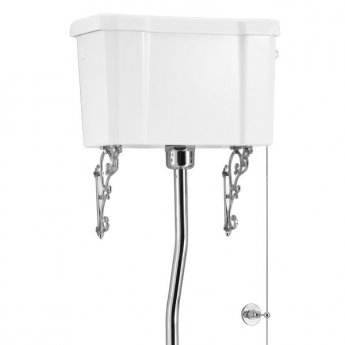 Burlington S-Trap High Level Toilet White Ceramic Cistern - Excluding Seat